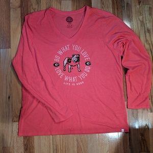 Georgia Bulldog Life Is Good Long-sleeve T-shirt